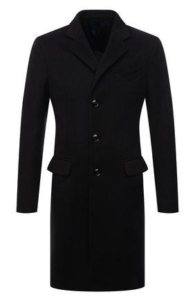 Мужской пальто из шерсти и кашемира GIORGIO ARMANI темно-коричневого цвета, арт. 1WG0L07G/T00BU | Фото 1 (Материал подклада: Синтетический материал; Рукава: Длинные; Материал внешний: Шерсть; Мужское Кросс-КТ: пальто-верхняя одежда; Стили: Классический; Длина (верхняя одежда): До середины бедра)