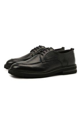 Мужские кожаные дерби H`D`S`N BARACCO черного цвета, арт. 81215.V.0* | Фото 1