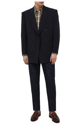 Мужские кожаные пенни-лоферы H`D`S`N BARACCO коричневого цвета, арт. 81410.C.2* | Фото 2