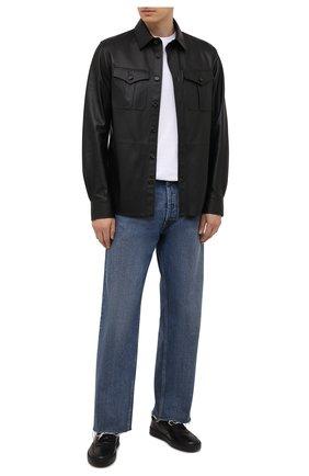 Мужские кожаные кеды H`D`S`N BARACCO черного цвета, арт. MITCH.VVN.0* | Фото 2