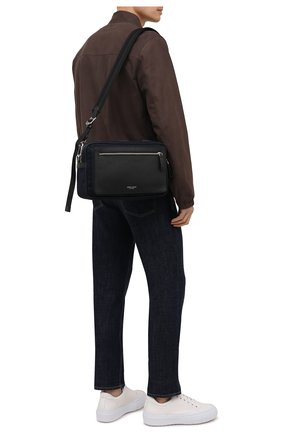 Мужская комбинированная сумка GIORGIO ARMANI темно-синего цвета, арт. Y2M247/YI68E | Фото 2