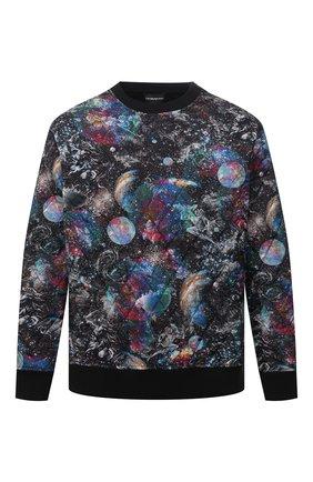 Мужской утепленный свитшот EMPORIO ARMANI разноцветного цвета, арт. 6K1M8Q/1JS3Z | Фото 1 (Материал подклада: Хлопок; Материал внешний: Синтетический материал; Рукава: Длинные; Длина (для топов): Стандартные; Мужское Кросс-КТ: свитшот-одежда; Стили: Кэжуэл)
