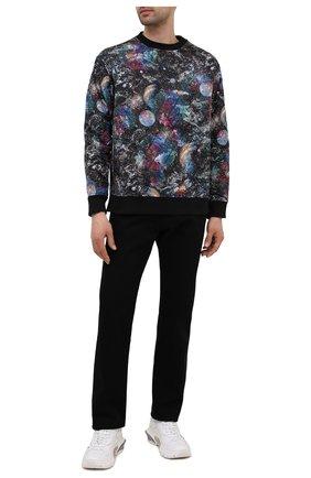 Мужской утепленный свитшот EMPORIO ARMANI разноцветного цвета, арт. 6K1M8Q/1JS3Z | Фото 2 (Материал подклада: Хлопок; Материал внешний: Синтетический материал; Рукава: Длинные; Длина (для топов): Стандартные; Мужское Кросс-КТ: свитшот-одежда; Стили: Кэжуэл)