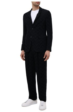 Мужские брюки GIORGIO ARMANI темно-синего цвета, арт. 1WGPP0K7/T02VC   Фото 2