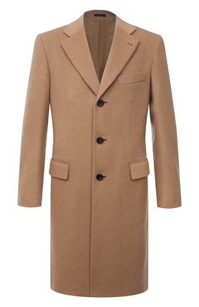 Мужской шерстяное пальто BRIONI бежевого цвета, арт. R07N0N/07333 | Фото 1