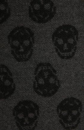 Мужской шерстяной шарф ALEXANDER MCQUEEN темно-серого цвета, арт. 624425/4200Q | Фото 2