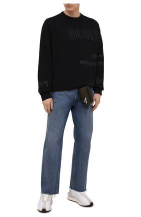 Мужская текстильная борсетка ALEXANDER MCQUEEN хаки цвета, арт. 663149/1AAB9 | Фото 2 (Материал: Текстиль)