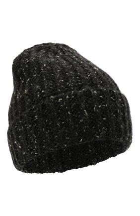 Мужская кашемировая шапка JOHNSTONS OF ELGIN черного цвета, арт. HAC02454 | Фото 1 (Материал: Шерсть, Кашемир; Кросс-КТ: Трикотаж)