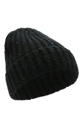 Мужская кашемировая шапка JOHNSTONS OF ELGIN синего цвета, арт. HAC02454 | Фото 1 (Материал: Кашемир, Шерсть; Кросс-КТ: Трикотаж)