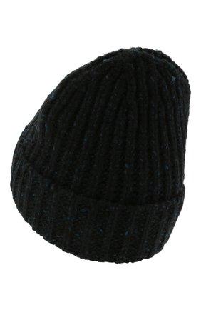 Мужская кашемировая шапка JOHNSTONS OF ELGIN синего цвета, арт. HAC02454 | Фото 2 (Материал: Кашемир, Шерсть; Кросс-КТ: Трикотаж)