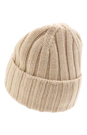 Мужская кашемировая шапка JOHNSTONS OF ELGIN светло-бежевого цвета, арт. HAC02657 | Фото 2 (Материал: Кашемир, Шерсть; Кросс-КТ: Трикотаж)
