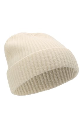 Мужская кашемировая шапка JOHNSTONS OF ELGIN кремвого цвета, арт. HAE01941 | Фото 1 (Материал: Шерсть, Кашемир; Кросс-КТ: Трикотаж)