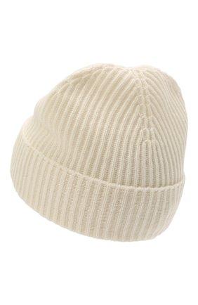 Мужская кашемировая шапка JOHNSTONS OF ELGIN кремвого цвета, арт. HAE01941 | Фото 2 (Материал: Шерсть, Кашемир; Кросс-КТ: Трикотаж)
