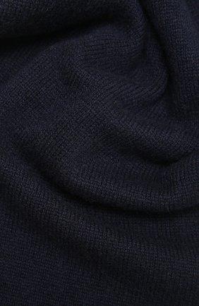 Мужской кашемировый шарф JOHNSTONS OF ELGIN темно-синего цвета, арт. HAE02197 | Фото 2 (Материал: Кашемир, Шерсть; Кросс-КТ: кашемир)