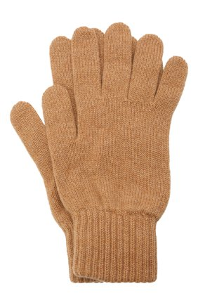Мужские кашемировые перчатки JOHNSTONS OF ELGIN бежевого цвета, арт. HAY01001 | Фото 1 (Материал: Шерсть, Кашемир; Кросс-КТ: Трикотаж)