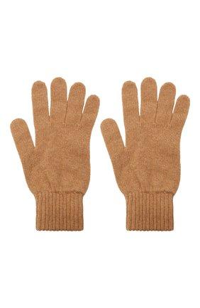 Мужские кашемировые перчатки JOHNSTONS OF ELGIN бежевого цвета, арт. HAY01001 | Фото 2 (Материал: Шерсть, Кашемир; Кросс-КТ: Трикотаж)