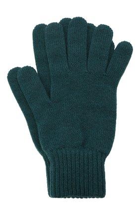 Мужские кашемировые перчатки JOHNSTONS OF ELGIN темно-зеленого цвета, арт. HAY01001 | Фото 1 (Материал: Кашемир, Шерсть; Кросс-КТ: Трикотаж)
