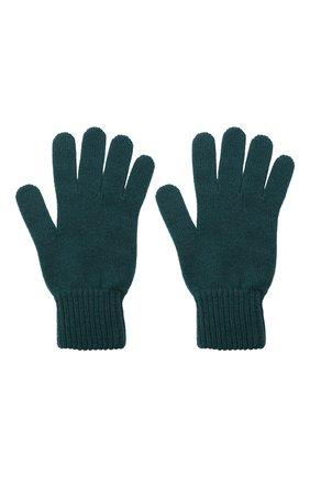 Мужские кашемировые перчатки JOHNSTONS OF ELGIN темно-зеленого цвета, арт. HAY01001 | Фото 2 (Материал: Кашемир, Шерсть; Кросс-КТ: Трикотаж)