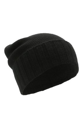 Мужская кашемировая шапка JOHNSTONS OF ELGIN черного цвета, арт. HAY02665 | Фото 1 (Материал: Кашемир, Шерсть; Кросс-КТ: Трикотаж)