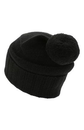 Мужская кашемировая шапка JOHNSTONS OF ELGIN черного цвета, арт. HAY02665 | Фото 2 (Материал: Кашемир, Шерсть; Кросс-КТ: Трикотаж)