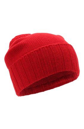Мужская кашемировая шапка JOHNSTONS OF ELGIN красного цвета, арт. HAY02665 | Фото 1 (Материал: Кашемир, Шерсть; Кросс-КТ: Трикотаж)
