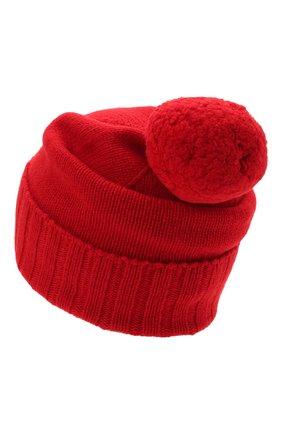 Мужская кашемировая шапка JOHNSTONS OF ELGIN красного цвета, арт. HAY02665 | Фото 2 (Материал: Кашемир, Шерсть; Кросс-КТ: Трикотаж)