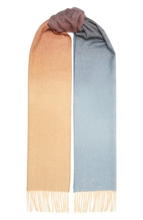 Мужской кашемировый шарф JOHNSTONS OF ELGIN разноцветного цвета, арт. WA000057 | Фото 1 (Материал: Шерсть, Кашемир)