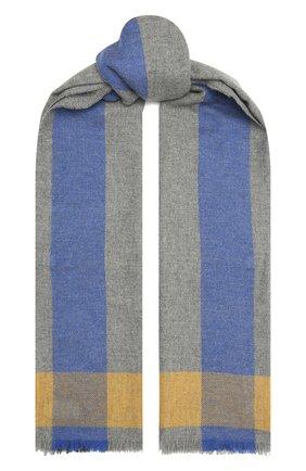 Мужской кашемировый шарф JOHNSTONS OF ELGIN серого цвета, арт. WA001174 | Фото 1 (Материал: Шерсть, Кашемир; Кросс-КТ: кашемир)