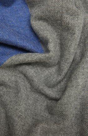 Мужской кашемировый шарф JOHNSTONS OF ELGIN серого цвета, арт. WA001174 | Фото 2 (Материал: Шерсть, Кашемир; Кросс-КТ: кашемир)