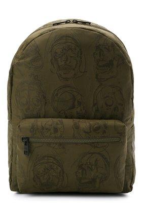 Мужской текстильный рюкзак ALEXANDER MCQUEEN хаки цвета, арт. 646457/1AAB6 | Фото 1 (Материал: Текстиль)