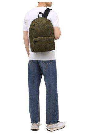 Мужской текстильный рюкзак ALEXANDER MCQUEEN хаки цвета, арт. 646457/1AAB6 | Фото 2 (Материал: Текстиль)