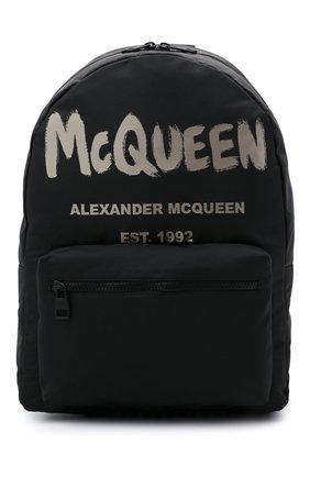 Мужской текстильный рюкзак ALEXANDER MCQUEEN черного цвета, арт. 646457/1AABW | Фото 1