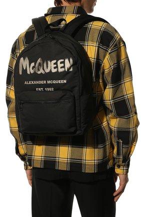 Мужской текстильный рюкзак ALEXANDER MCQUEEN черного цвета, арт. 646457/1AABW | Фото 2