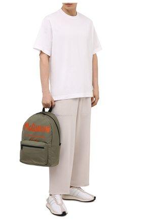 Мужской текстильный рюкзак ALEXANDER MCQUEEN хаки цвета, арт. 646457/1AABW | Фото 2 (Материал: Текстиль)