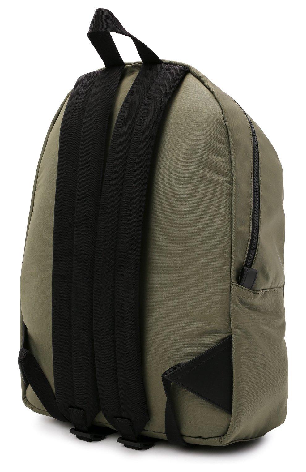 Мужской текстильный рюкзак ALEXANDER MCQUEEN хаки цвета, арт. 646457/1AABW   Фото 3