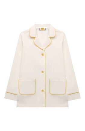 Детская хлопковая пижама MUMOFSIX белого цвета, арт. MOSSS21_PJWH   Фото 2