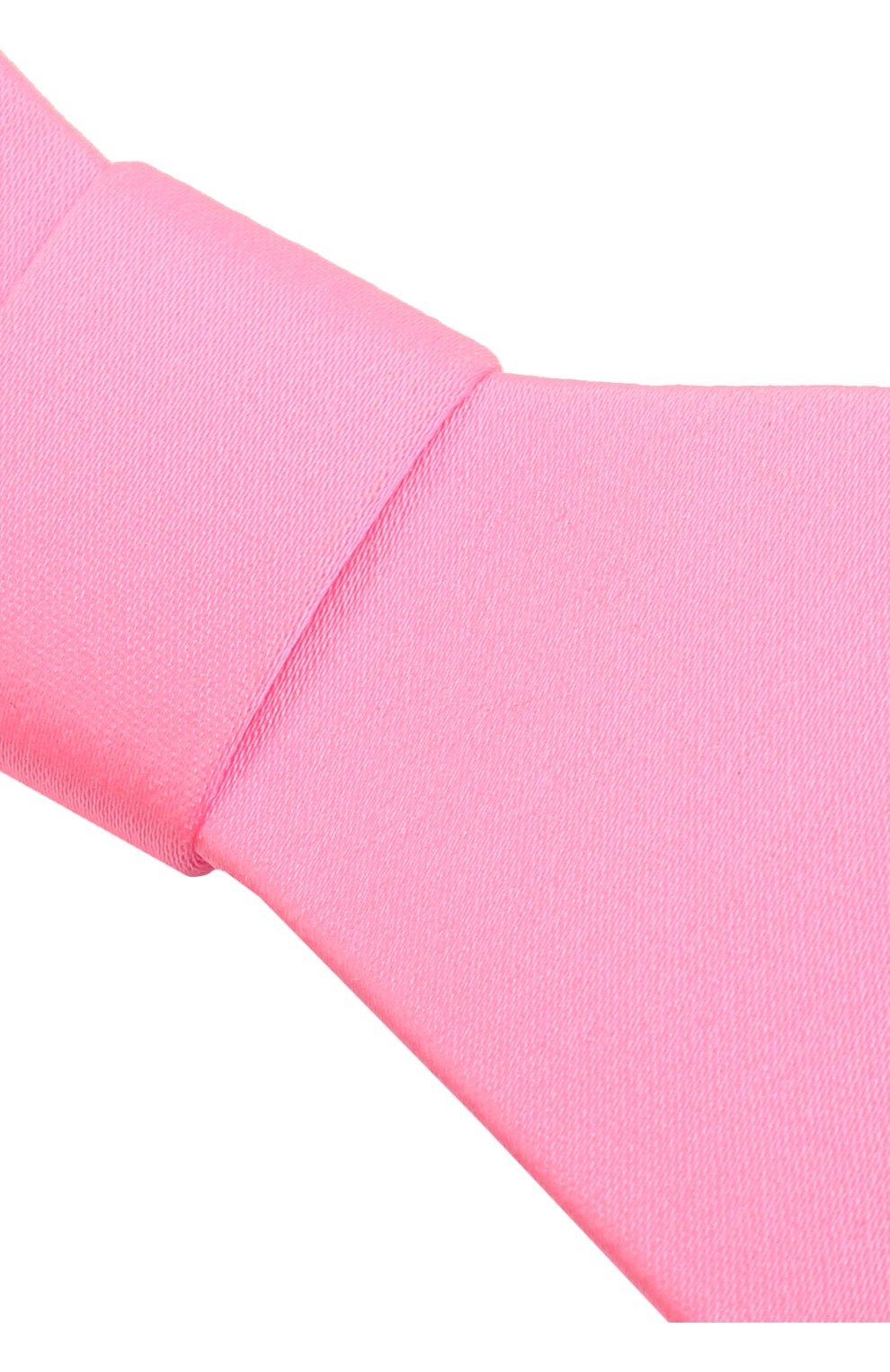 Женская бант PANFIL розового цвета, арт. Бант 5-T3   Фото 3 (Материал: Текстиль, Шелк)
