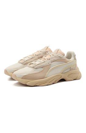 Женские комбинированные кроссовки rs-connect mono trainers PUMA бежевого цвета, арт. 37515104 | Фото 1