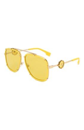 Женские солнцезащитные очки VERSACE желтого цвета, арт. 2233-14736D | Фото 1