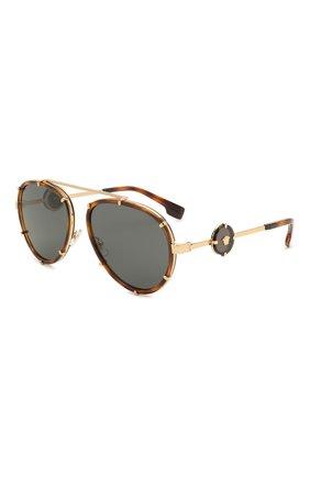 Женские солнцезащитные очки VERSACE леопардового цвета, арт. 2232-147087 | Фото 1