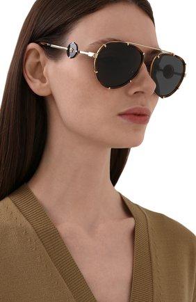 Женские солнцезащитные очки VERSACE леопардового цвета, арт. 2232-147087 | Фото 2