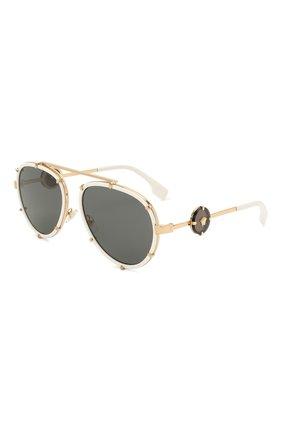 Женские солнцезащитные очки VERSACE белого цвета, арт. 2232-147187 | Фото 1