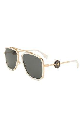 Женские солнцезащитные очки VERSACE белого цвета, арт. 2233-147187   Фото 1