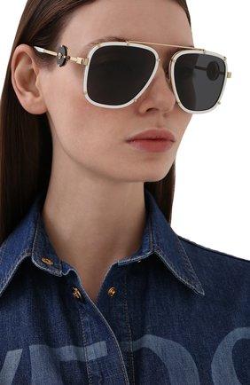 Женские солнцезащитные очки VERSACE белого цвета, арт. 2233-147187   Фото 2