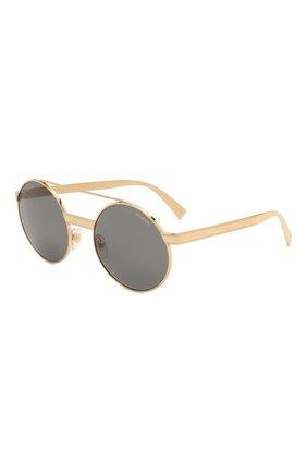Женские солнцезащитные очки VERSACE золотого цвета, арт. 2210-100281 | Фото 1