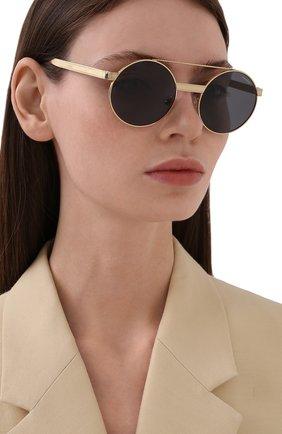 Женские солнцезащитные очки VERSACE золотого цвета, арт. 2210-100281 | Фото 2