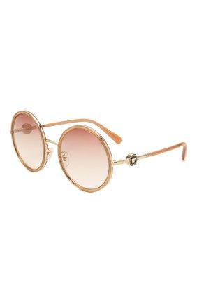 Женские солнцезащитные очки VERSACE бежевого цвета, арт. 2229-12520P | Фото 1