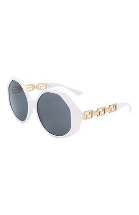 Женские солнцезащитные очки VERSACE белого цвета, арт. 4395-314/87 | Фото 1