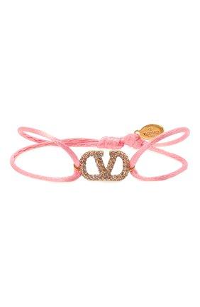 Женский браслет  VALENTINO розового цвета, арт. VW0J0F81/YAB | Фото 1