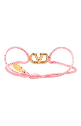 Женский браслет  VALENTINO розового цвета, арт. VW0J0F81/YAB | Фото 2